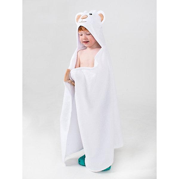 Купить Полотенце с капюшоном BabyBunny, Россия, белый, one size, Унисекс