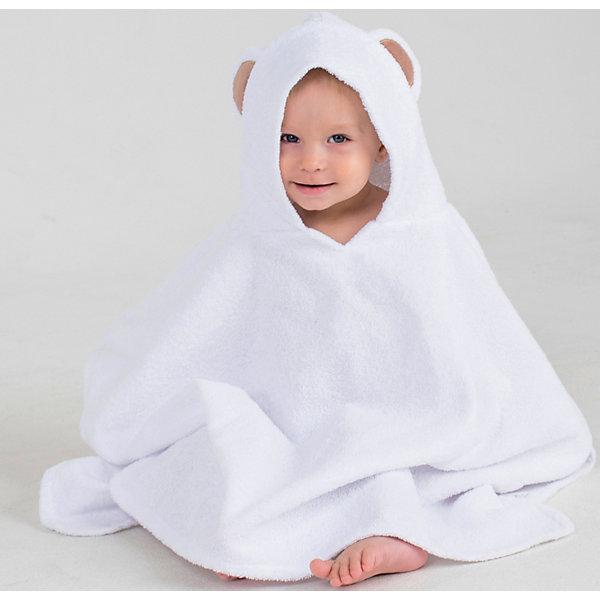 Купить Полотенце с капюшоном BabyBunny, размер М, Россия, белый, one size, Унисекс