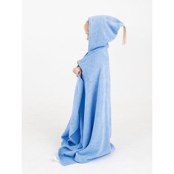 Купить Полотенце с капюшоном BabyBunny, размер М, Россия, голубой, one size, Мужской