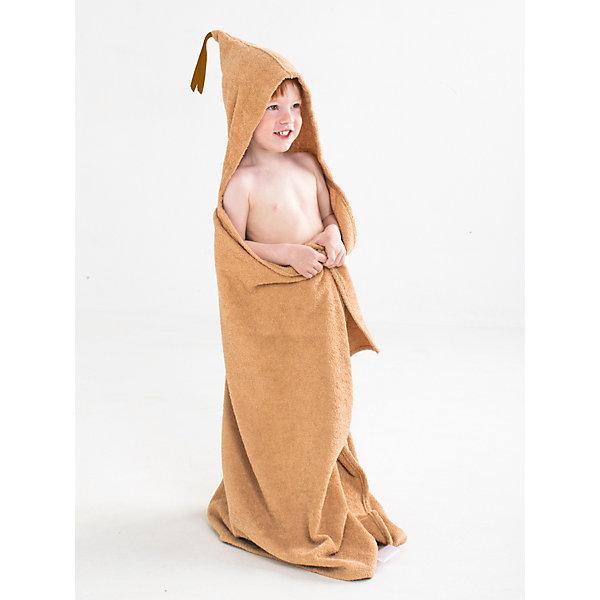 Купить Полотенце с капюшоном BabyBunny, размер L, Россия, бежевый, one size, Унисекс