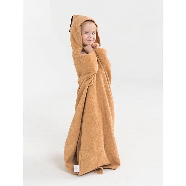Купить Полотенце с капюшоном BabyBunny, размер М, Россия, бежевый, one size, Унисекс
