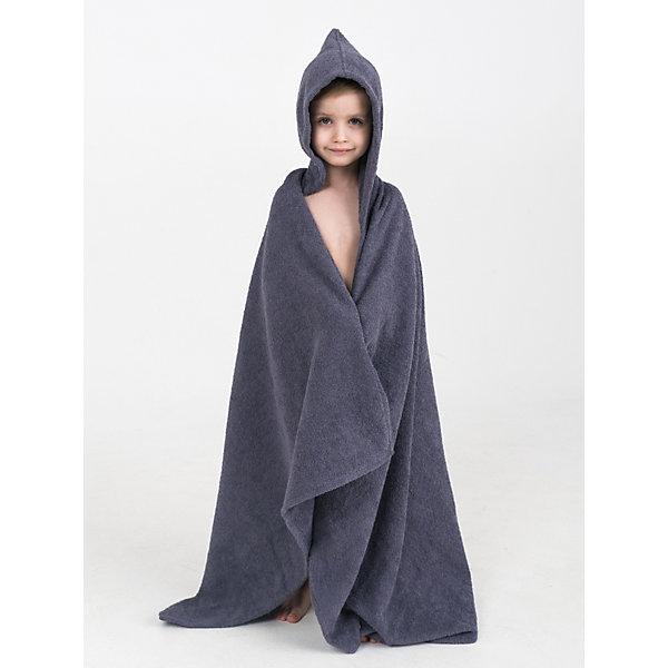 Купить Полотенце с капюшоном BabyBunny, размер L, Россия, серый, one size, Унисекс