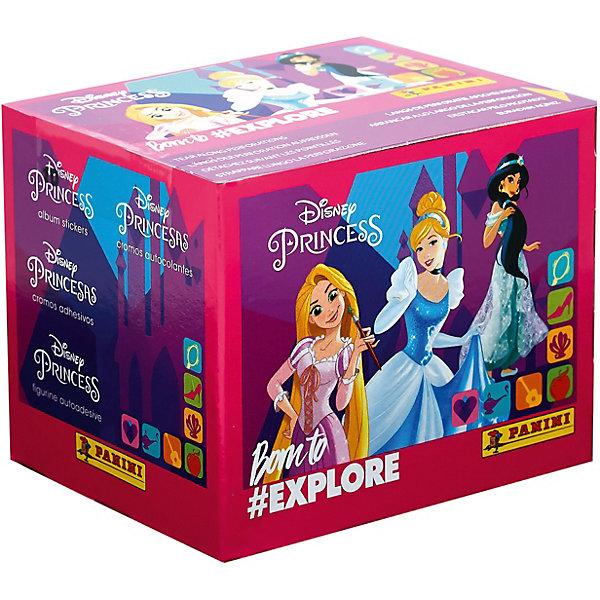 Panini Бокс с наклейками Принцессы Disney Рождена, чтобы исследовать, 36 пакетиков