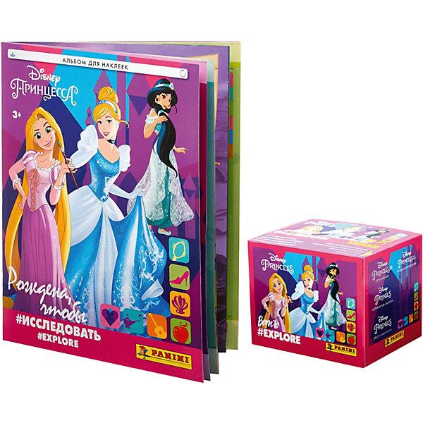 Panini Альбом Принцессы Disney Рождена и бокс с наклейками, 36 пакетиков в боксе