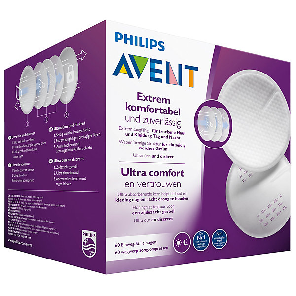 PHILIPS AVENT Вкладыши одноразовые в бюстгальтер Philips Avent Ultra Comfort, 60 шт