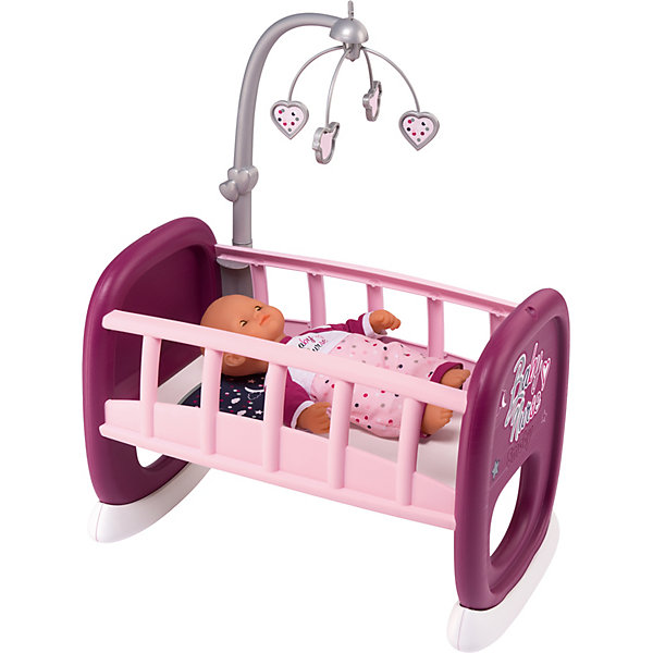Smoby Колыбель для пупса с мобилем Baby Nurse