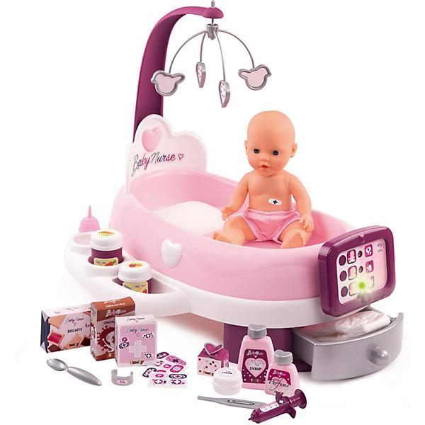 Smoby Набор по уходу с куклой и планшетом Baby Nurse