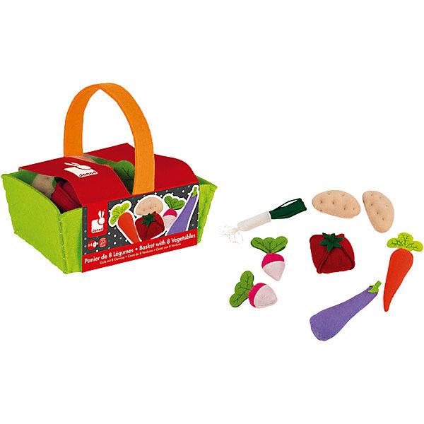 цена на Janod Игровой набор Janod Овощи в корзинке