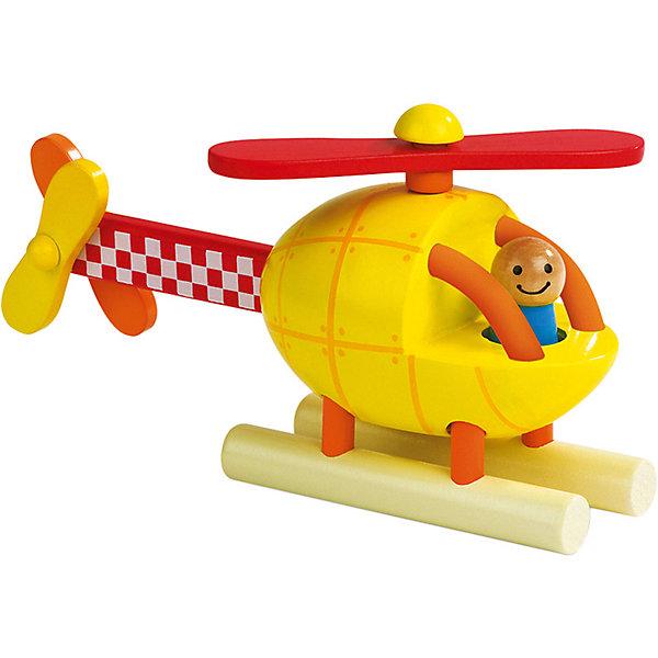 Купить Магнитный конструктор Janod Вертолет , 5 деталей, желтый, Китай, Унисекс