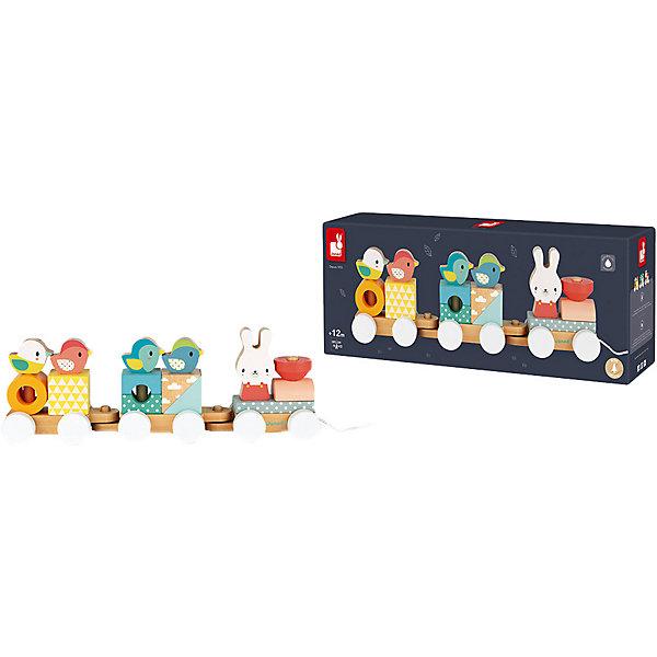 Купить Конструктор Janod Поезд с животными , 12 деталей, Китай, разноцветный, Унисекс