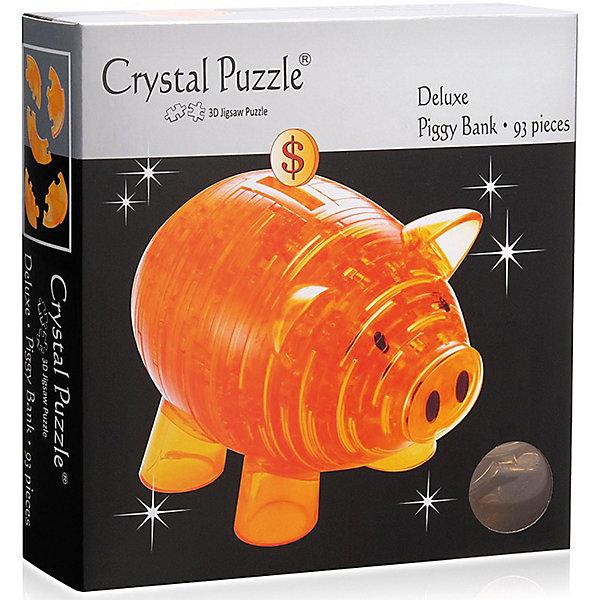 цена на Crystal Puzzle 3D головоломка Crystal Puzzle Копилка свинья золотая