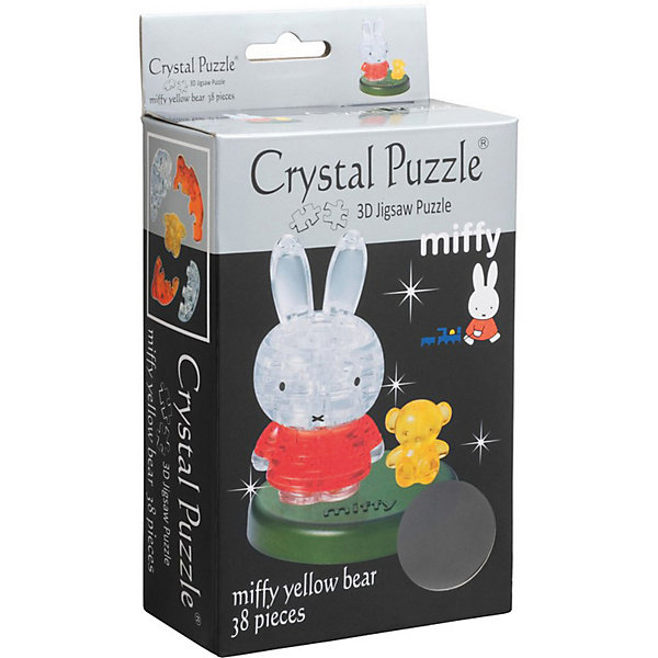 Crystal Puzzle 3D головоломка Crystal Puzzle Миффи и медвежонок цена и фото