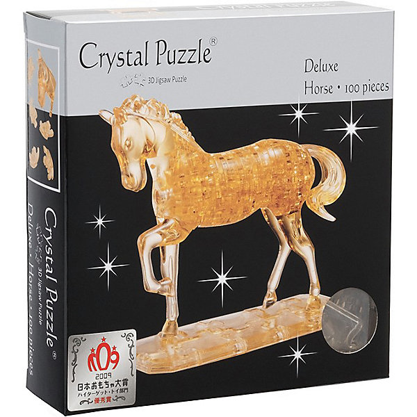 цена на Crystal Puzzle 3D головоломка Crystal Puzzle Лошадь золотая