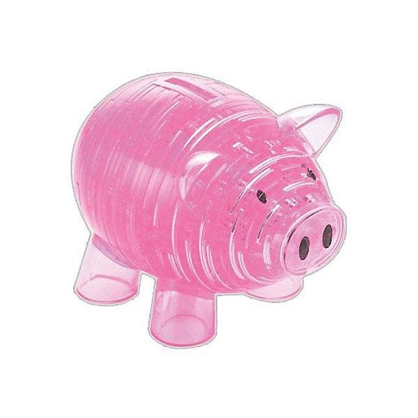 цена на Crystal Puzzle 3D головоломка Crystal Puzzle Копилка свинья розовая