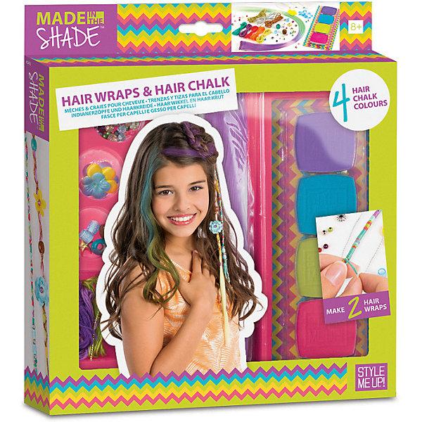 цена на Style Me Up Набор для создания украшений для волос Style Me Up, c радужными мелками