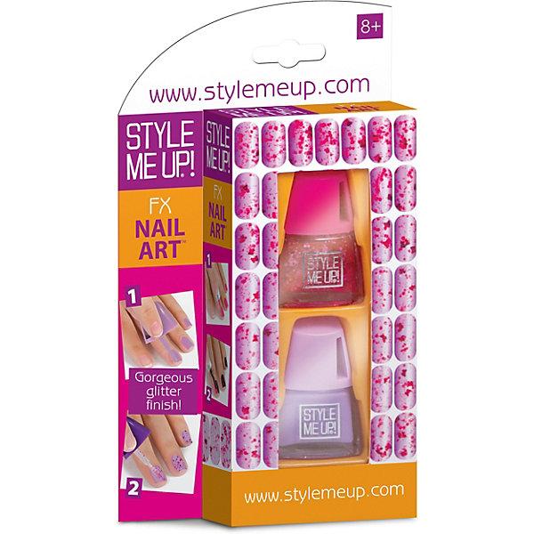 Style Me Up Набор Style Me Up Ослепительный маникюр, сиреневая фуксия style me up набор для творчества радужный мелок для волос цвет розовый