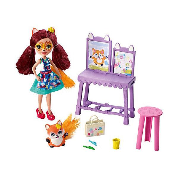 Mattel Игровой набор Enchantimals Арт-студия с Фелисити Фокс