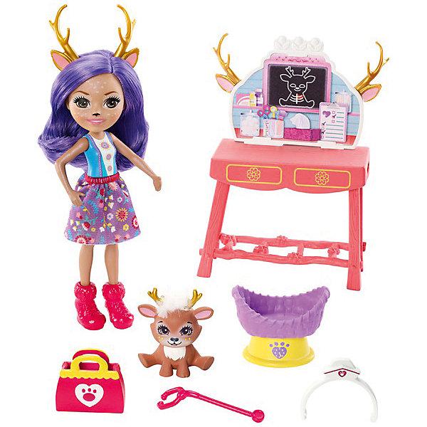 Mattel Игровой набор Enchantimals Заботливый ветеринар с Данэсса Оленни