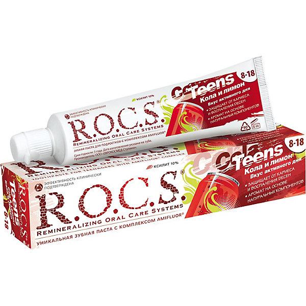 Зубная паста R.O.C.S. Teens Кола и лимон 74 г.
