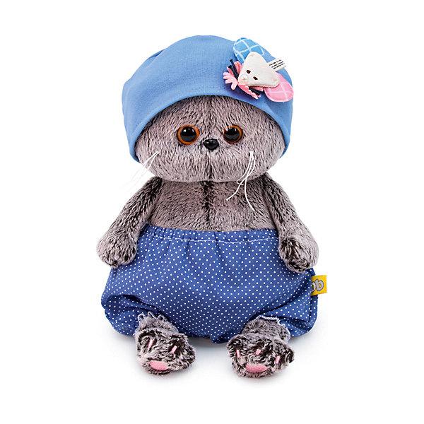 Купить Мягкая игрушка Budi Basa Кот Басик Baby в шапочке с мышью, 20 см, Россия, коричневый, Унисекс