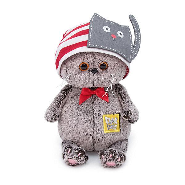 Купить Мягкая игрушка Budi Basa Кот Басик Baby в шапочке с котиком, 20 см, Россия, коричневый, Унисекс