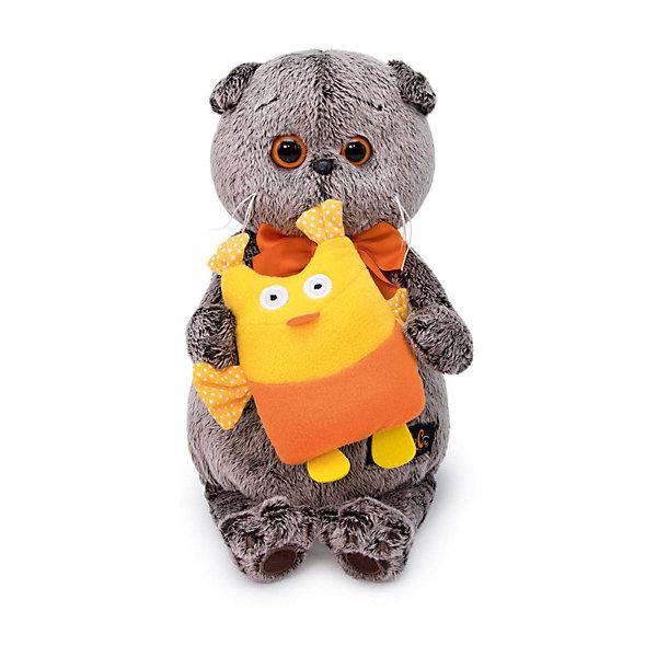 Budi Basa Мягкая игрушка Кот Басик с совой, 19 см