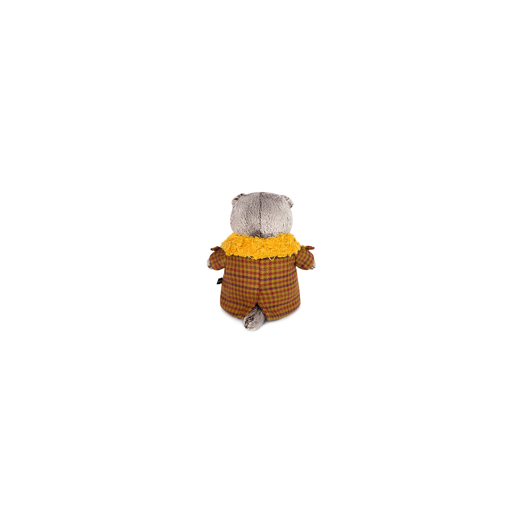 Мягкая игрушка Budi Basa Кот Басик в пальто с желтым меховым воротником, 22 см по цене 899