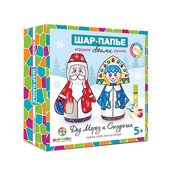Купить Набор Шар Папье Дед Мороз и Снегурочка , Россия, разноцветный, Унисекс