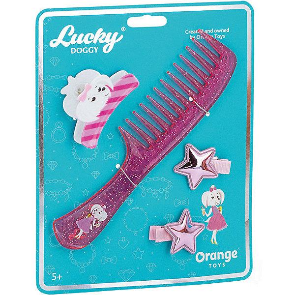 Купить Набор аксессуаров для волос Orange Lucky Doggy Расчёска с Мальтезе, Китай, бирюзовый, Унисекс