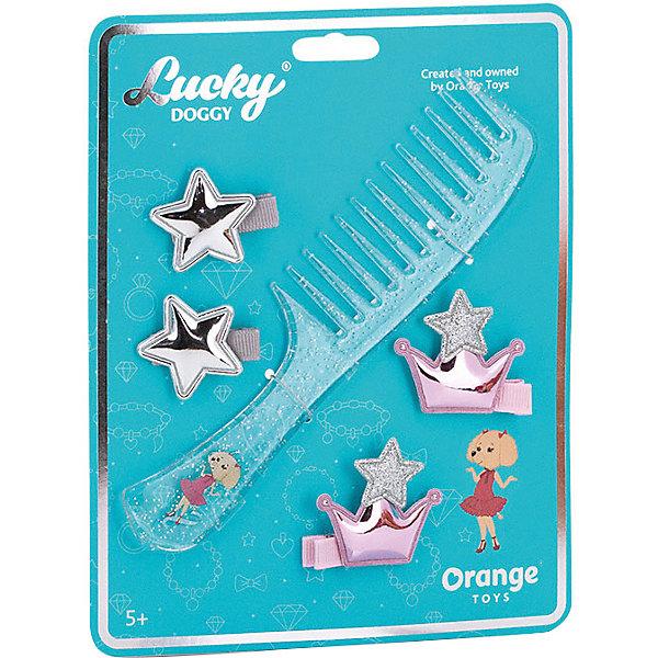 Orange Набор аксессуаров для волос Orange Lucky Doggy Расчёска с Пуделем orange верёвочный браслет orange lucky doggy с пуделем