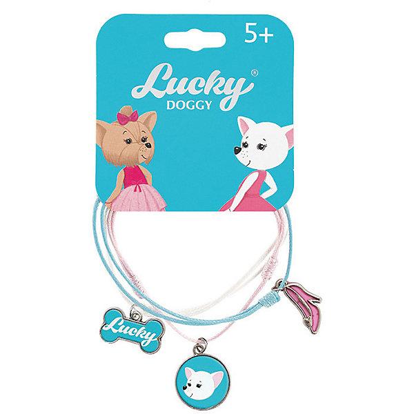 Orange Верёвочный браслет Lucky Doggy, с Чихуахуа