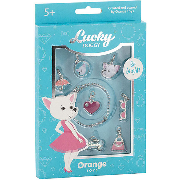 Купить Набор с браслетом Orange Lucky Doggy Чихуахуа, Китай, бирюзовый, Унисекс
