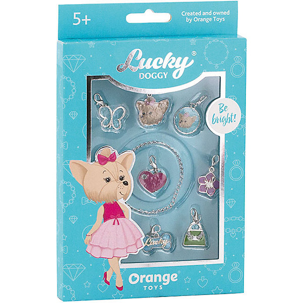 Orange Набор с браслетом Orange Lucky Doggy Йорк orange верёвочный браслет orange lucky doggy с пуделем