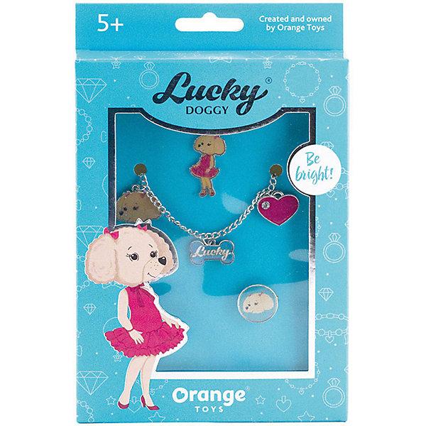 Orange Набор украшений Lucky Doggy Пудель