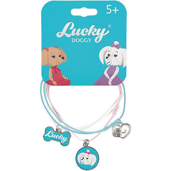 Orange Верёвочный браслет Lucky Doggy, с Мальтезе