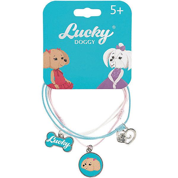 Orange Верёвочный браслет Lucky Doggy, с Пуделем