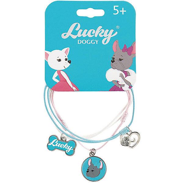 Orange Верёвочный браслет Lucky Doggy, с Бульдогом