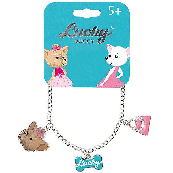 Orange Браслет-цепочка Orange Lucky Doggy, с Йорком orange цепочка с подвеской orange lucky doggy бульдог