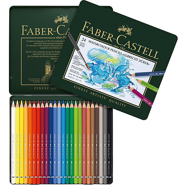 Купить Карандаши акварельные художественные Faber-Castell Albrecht Dürer, 24 цвета, Германия, разноцветный, Унисекс