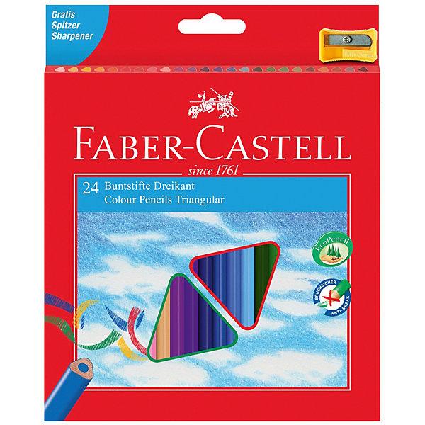 Faber-Castell Карандаши цветные Faber-Castell 24 цвета, с точилкой