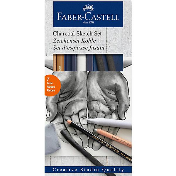 Faber-Castell Набор угля и угольных карандашей Faber-Castell Charcoal Sketch, 7 предметов