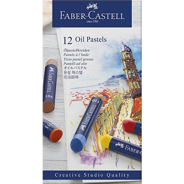 Faber-Castell Пастель масляная Faber-Castell Oil Pastels, 12 цветов pebeo краска масляная набор xl 18 цветов 668110 12 мл