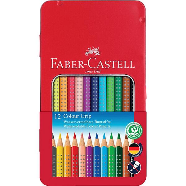 Faber-Castell Карандаши цветные Grip, 12 цветов
