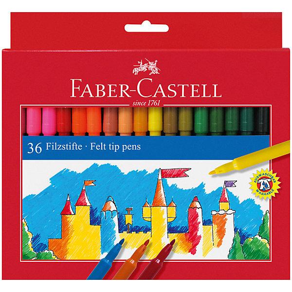 фломастеры faber castell connector 60цв смываемые соединяемые колпачки пластик уп европодв Faber-Castell Фломастеры Faber-Castell, 36 цветов, смываемые