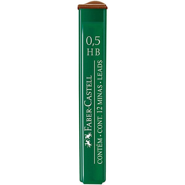 Faber-Castell Грифели для механических карандашей Faber-Castell Polymer, 12 шт., 0,5 мм, HB cross грифели для механических кассетных карандашей 0 5 мм 12 шт 1 ластик в кассете