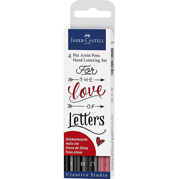 Faber-Castell Набор капиллярных ручек Faber-Castell Pitt Artist Pen Lettering, 4 шт