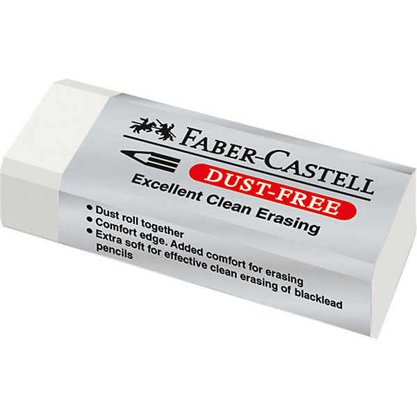 Faber-Castell Ластик Faber-Castell Dust Free, белый