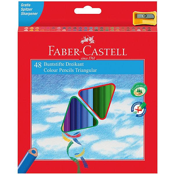 Faber-Castell Карандаши цветные Faber-Castell 48 цветов, с точилкой