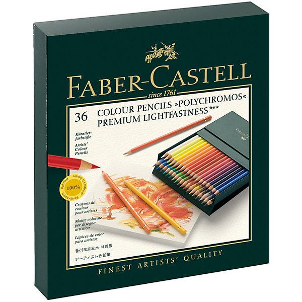 Faber-Castell Карандаши цветные художественные Faber-Castell Polychromos, 36 цветов карандаши цветные акварельные художественные faber castell albrecht durer 72 цвета деревянный ящик 117572