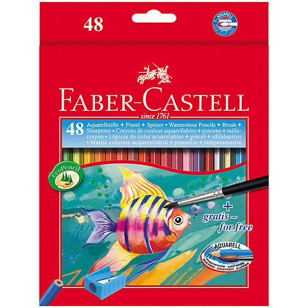 Faber-Castell Карандаши акварельные Faber-Castell, 48 цветов + кисть